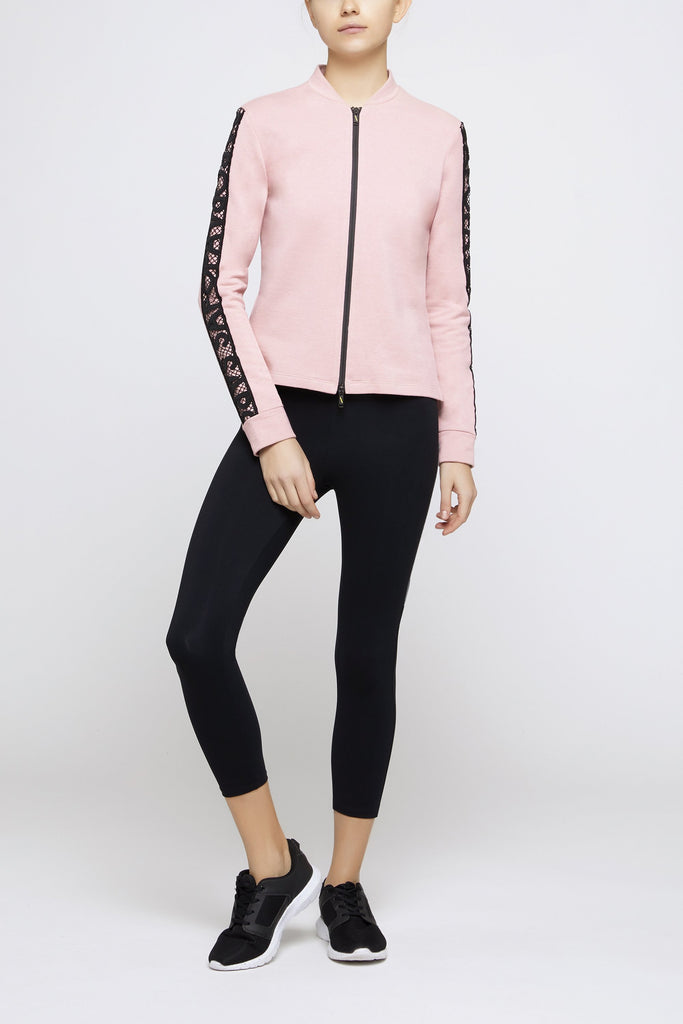 Buddy Pink Zipped Sweatshirt - Sapopa