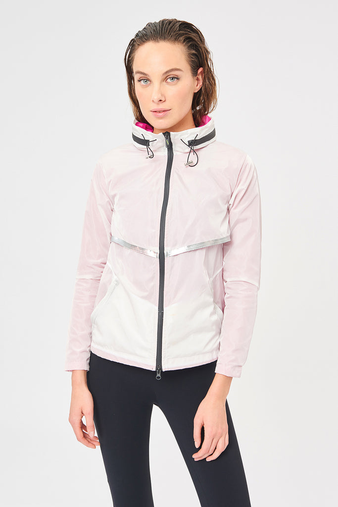 Venezia White Running Jacket