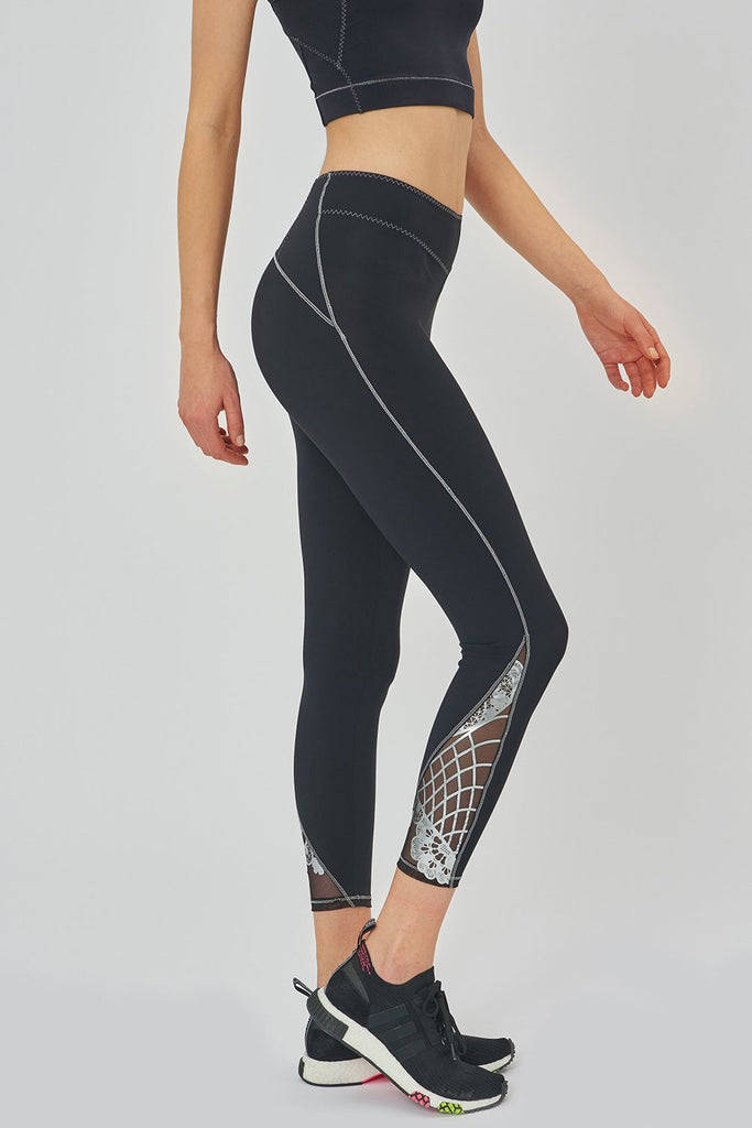 Corona Black Leggings - Sapopa