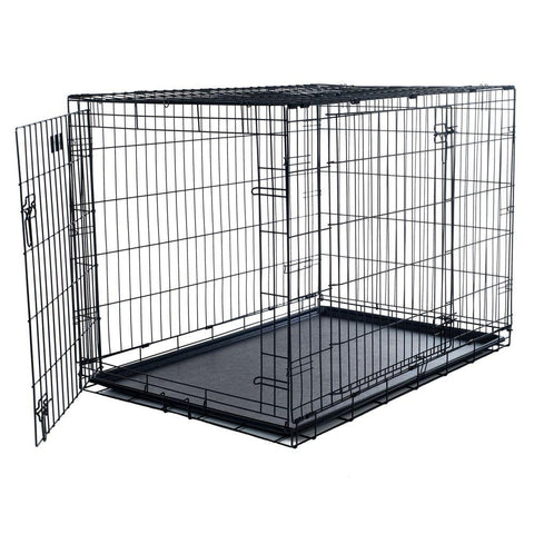 Pet Essentials, Dog Crate, Metal Dog crate, Double door dog crate, crate with plastic tray, pet essentials napier