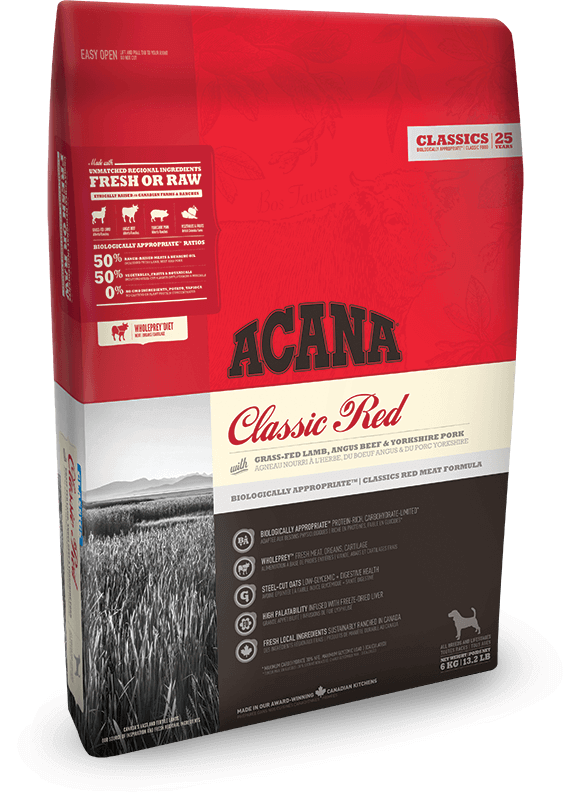 Acana Dog Classic Red 340gm - Dry Biscuit - Pet Essentials Online - Pet Essentials Napier - Hollywood Fish Auckland - Pet Essentials Hastings - pet Essentials Porirua - pet stock Hastings - Animates Napier - Happy Animals Taradale - Pet Store Napier - Fishly - Pet Essentials New Plymouth - Pet Essentials NZ