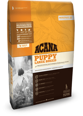 Acana Puppy Large Breed 11.4kg - Dry Biscuit - Pet Essentials Online - Pet Essentials Napier - Hollywood Fish Auckland - Pet Essentials Hastings - pet Essentials Porirua - pet stock Hastings - Animates Napier - Happy Animals Taradale - Pet Store Napier - Fishly - Pet Essentials New Plymouth - Pet Essentials NZ