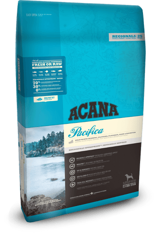 Acana Dog Pacifica 11.4kg - Dry Biscuit - Pet Essentials Online - Pet Essentials Napier - Hollywood Fish Auckland - Pet Essentials Hastings - pet Essentials Porirua - pet stock Hastings - Animates Napier - Happy Animals Taradale - Pet Store Napier - Fishly - Pet Essentials New Plymouth - Pet Essentials NZ