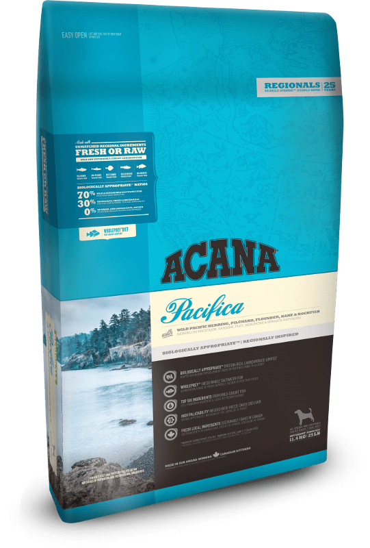 Acana Dog Pacifica 2kg - Dry Biscuit - Pet Essentials Online - Pet Essentials Napier - Hollywood Fish Auckland - Pet Essentials Hastings - pet Essentials Porirua - pet stock Hastings - Animates Napier - Happy Animals Taradale - Pet Store Napier - Fishly - Pet Essentials New Plymouth - Pet Essentials NZ