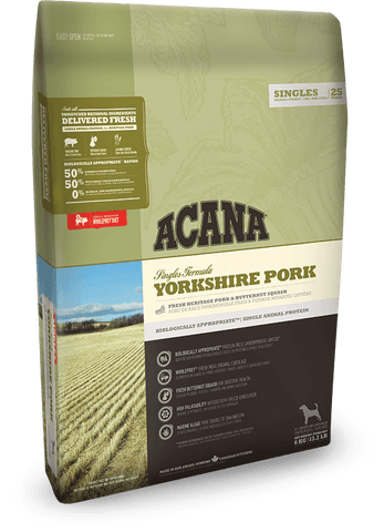 Acana Dog Yorkshire Pork 340gm - Dry Biscuit - Pet Essentials Online - Pet Essentials Napier - Hollywood Fish Auckland - Pet Essentials Hastings - pet Essentials Porirua - pet stock Hastings - Animates Napier - Happy Animals Taradale - Pet Store Napier - Fishly - Pet Essentials New Plymouth - Pet Essentials NZ