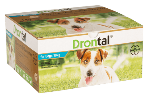 Drontal Dog AllWormer 10kg Tablet, pet essentials napier, pet essentials hastings, animates napier, petstock hastings stockist of drontal dog worming tablet 10kg