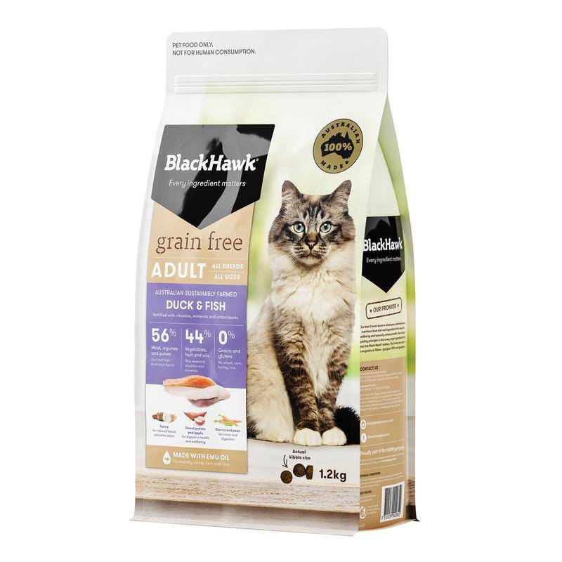 Black Hawk Grain Free Cat Duck & Fish 1.2kg