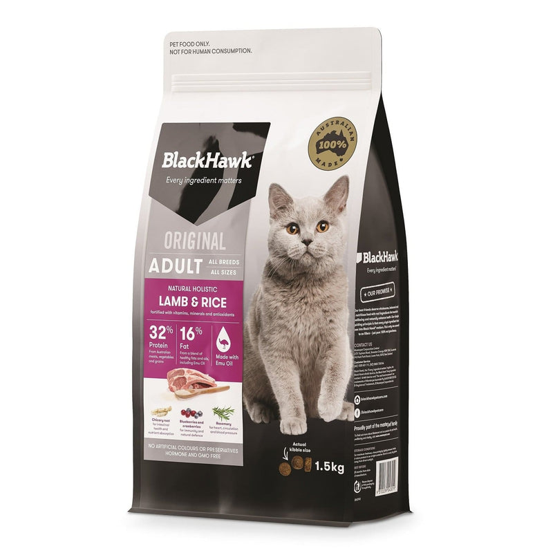 Black Hawk Original Cat Lamb & Rice 1.5kg