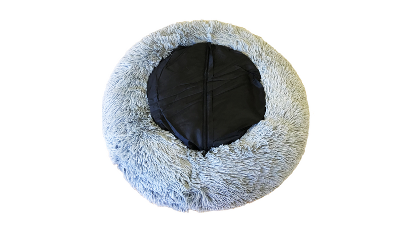 Calming Pet Bed Caramel Grey Medium 75cm, underside of calming dog bed