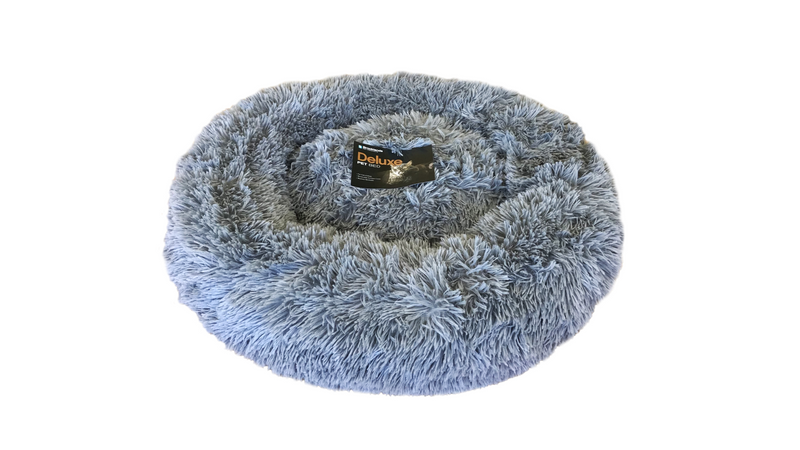 Calming Pet Bed Caramel Grey Medium 75cm, fluffy dog bed