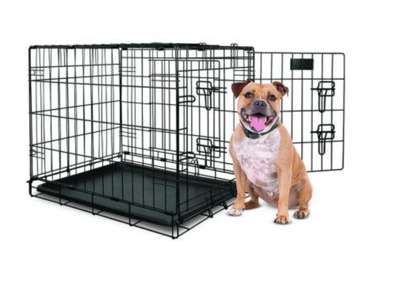 Yours Droolly Double Door Medium Dog Crate 30 inch 76Lx48Wx53H