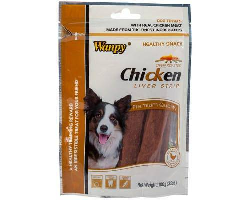 Wanpy Dog Treat Chicken Liver strips 100g