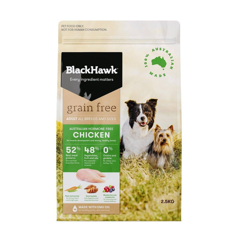 Black Hawk Grain Free Dog Chicken 2.5kg