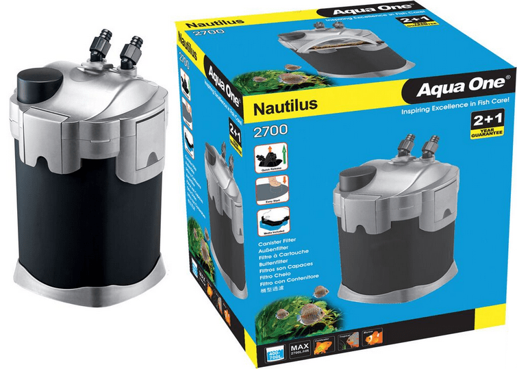 Aqua One 2700 UVC Nautilus Canister Filter with UV 2700l/hr
