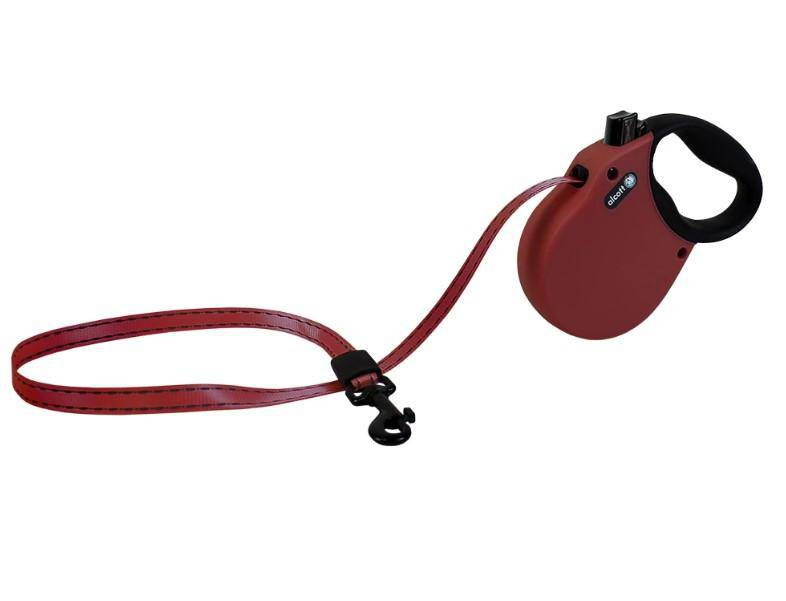 Adventure Retractable Lead Medium Red
