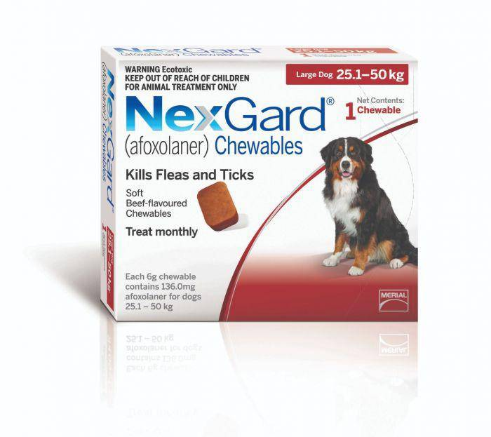 Nexgard Chewable Tablet Flea & Tick Treatment For Large Dogs 25-50kg