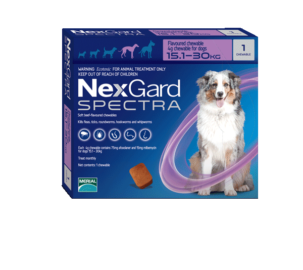 Nexgard Spectra Flea Tick & Worm Chewable Treatment 15.1-30kg
