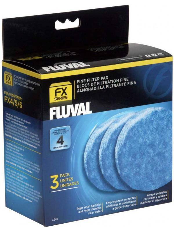 Fluval FX Series Fine Filter Pad 3 pack