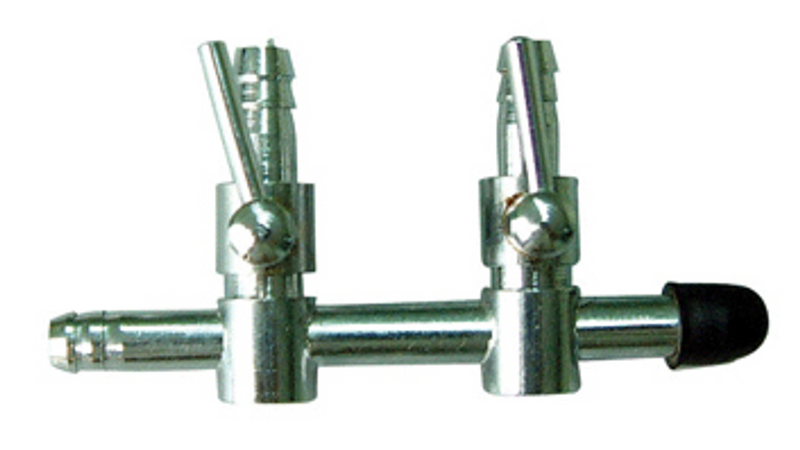 Chrome Tap - 2 way - Air Hose Connector