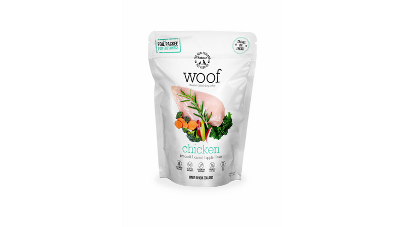 Woof Chicken Freeze Dried Dog Bites 50g