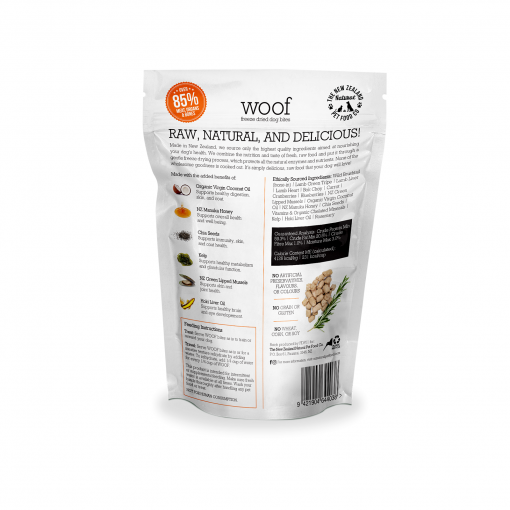Woof Wild Brushtail Freeze Dried Dog Bites 50g