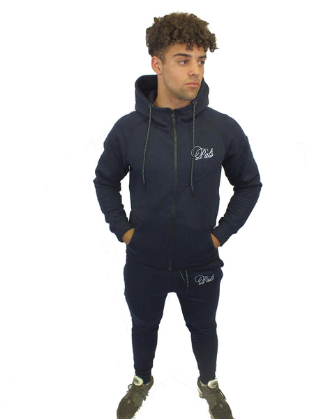 Unisex, Slim Fit Tracksuit In Navy