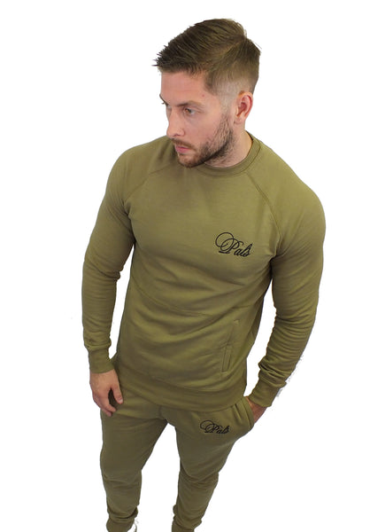 Unisex, Slim Fit Tracksuit In Olive Green