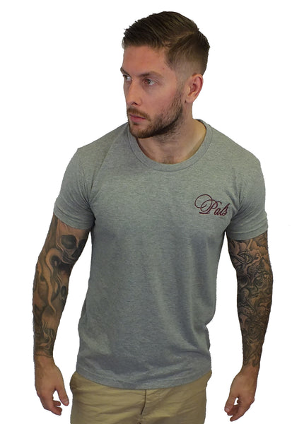 Unisex, Skinny T-Shirt in Grey