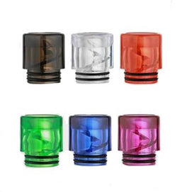 Plastic 810 Drip Tips (Spiral & Transparent Colours)