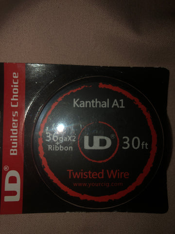 UD Kanthal A1 Twisted Wire 36GA x 2 Plus Ribbon - 10m