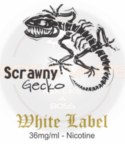 Scrawny Gecko (White Label) Nicotine 36MG 100ML