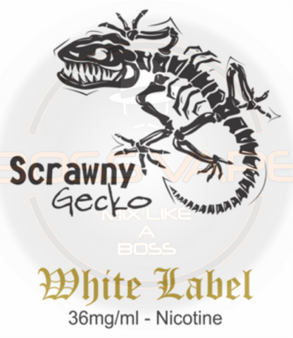 Scrawny Gecko (White Label) Nicotine 36MG - Boss Vape