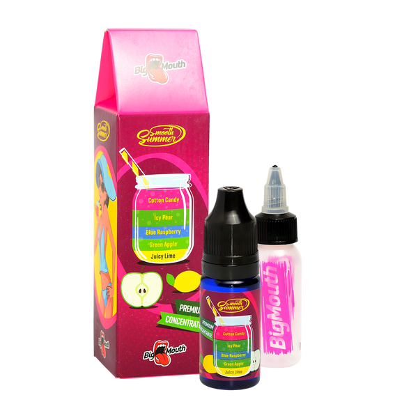 Smooth Summer One Shot - Juicy Lime | Green Apple | Blue Raspberry | Icy Pear | Cotton Candy (JGBIC)- 10ml