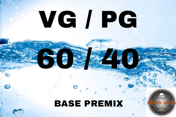 Premixed Base Liquid 60/40 - Boss Vape