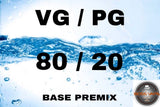Premixed Base Liquid 80/20 - Boss Vape