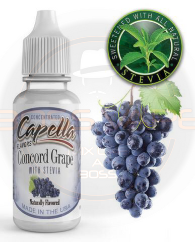 Concord Grape with Stevia Flavor CAP - Boss Vape