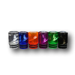 Plastic 510 Drip Tips (Spiral & Transparent Colours)