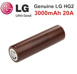 LG HG2 (Chocolate) 18650 3000mAh 20A Battery