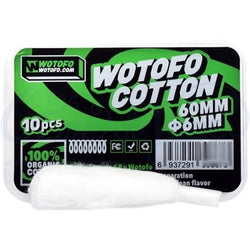Wotofo Agleted Cotton 6mm (10 Pack)