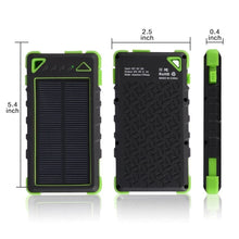 Waterproof LED Flashlight Solar Power Bank Never Worry About Uncharged Phone