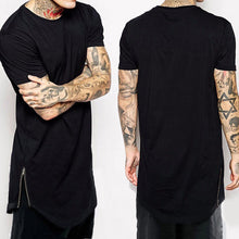 Zipper T Shirt Longline Makes You Unique