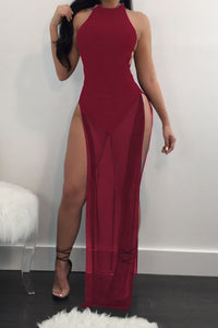 Grenadine Backless Sexy Jumpsuit