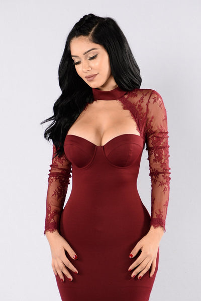 Lace See Through Sexy Dress