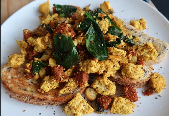 Tofu Scramble With a Chorizo Twist