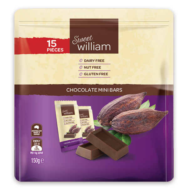 Sweet William Chocolate Mini Packs
