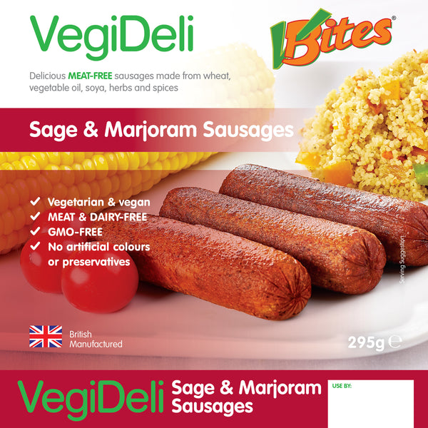 Vbites Sage & Marjoram Sausages- Use By 25th October 2018