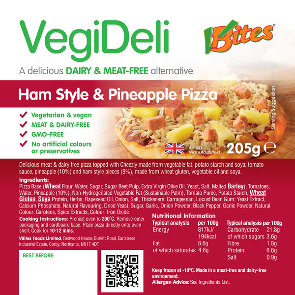 VBites Pizza -Ham Style and Pineapple