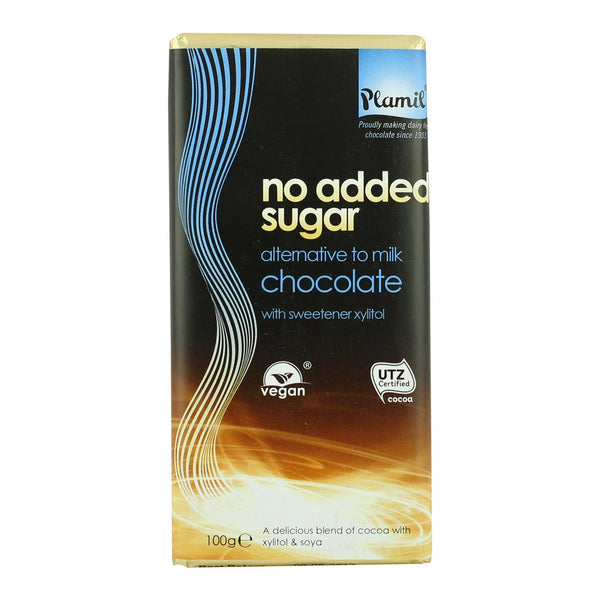 Plamil Organic No Added Sugar Chocolate - 100g