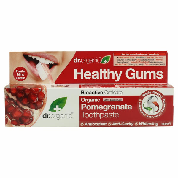 Dr Organic Toothpaste -Pomegranate