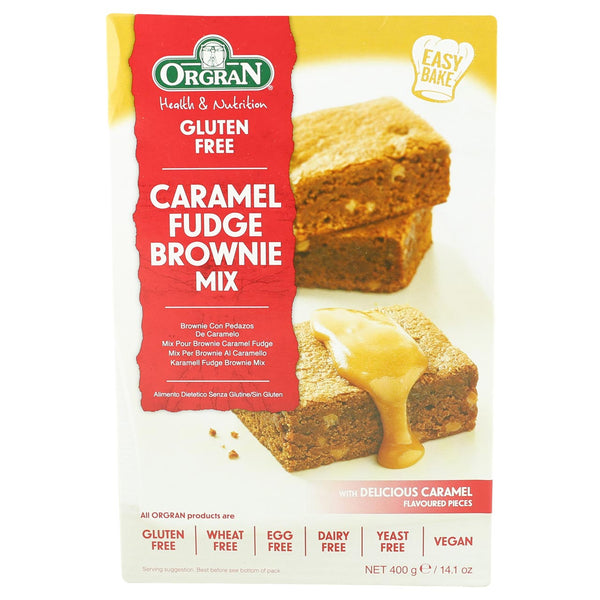 Orgran Caramel Fudge Brownie Mix